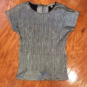 Silver Micro Pleated Blouse